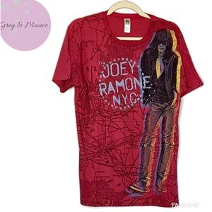 Unisex Joey Ramone Vintage Look Graphic Band Tee